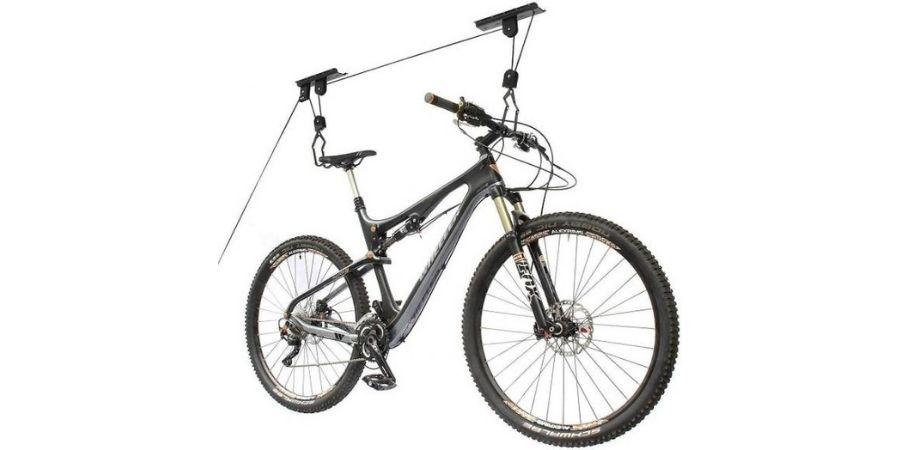 Sistema de Poleas para colgar la bicicleta