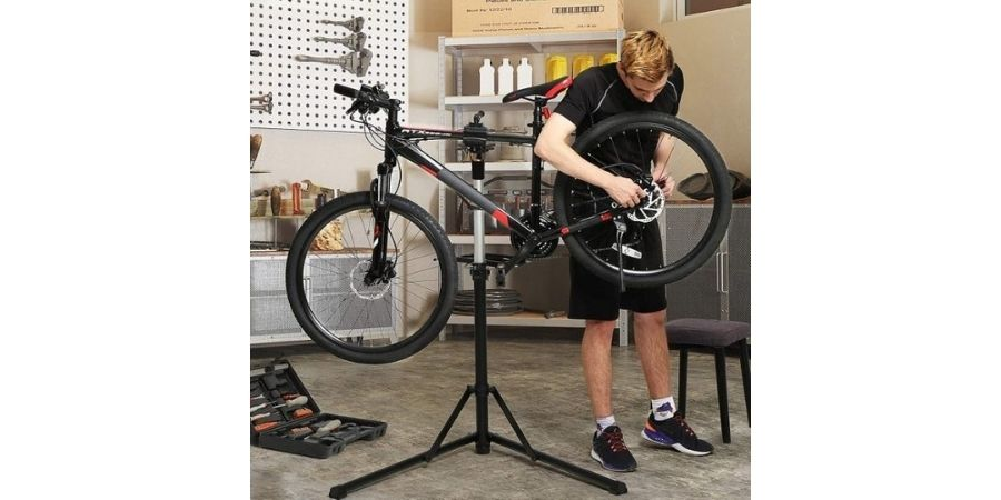 Soporte reparación bicicleta