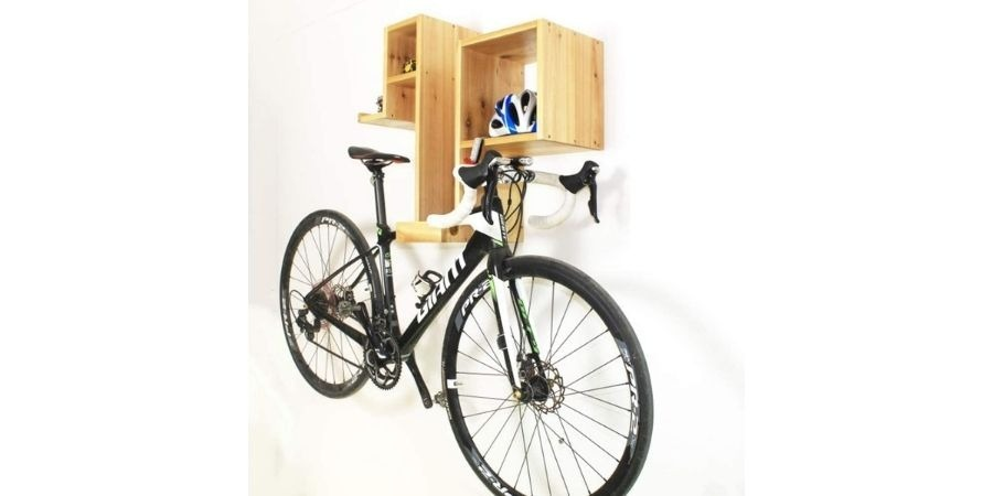 soporte madera bicicleta