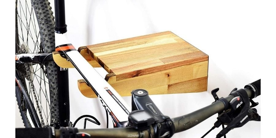 soporte bicicleta pared madera